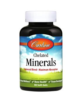 Carlson Labs Chelatierte Mineralien - Maximale Absorption - 90 Softgels
