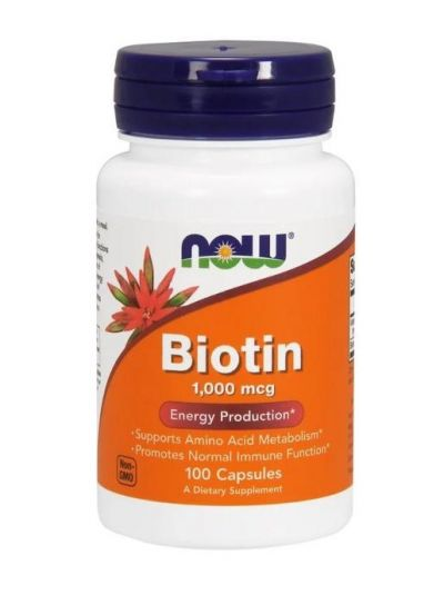 Now Foods Biotin 1000 mcg 100 capsules