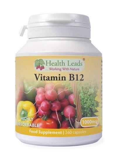 HEALTH LEADS VITAMIN B12 METHYLCOBALAMIN 1000MCG 360 VEGETABILISCHE KAPSELN
