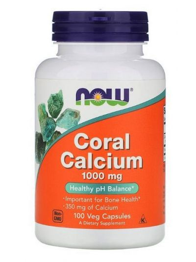 Now Foods Coral Calcium 1000 mg, 100 veg capsules
