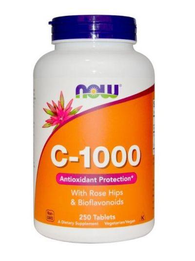 Now Foods C-1000 Mit Hagebutten & Bioflavonoiden 250 Tabletten