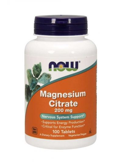 NOW FOODS MAGNESIUM CITRATE 200 MG 100 TABLETS