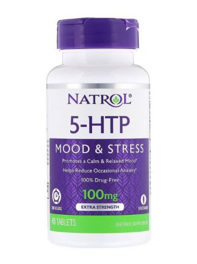 Natrol 5-HTP Time-Release (Zeitfreigabe), Extra Stärke, 100 mg, 45 Tabletten