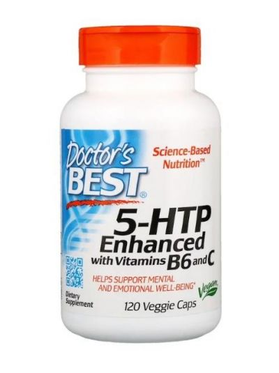 Doctor's Best 5-HTP 100 mg mit Vitamin B6 & C 120 vegetarische Kapseln
