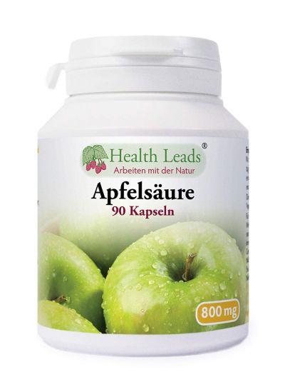 Health Leads Apfelsäure (Malic Säure) 800 mg 90 Kapseln