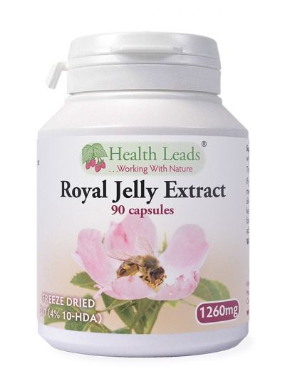 Health Leads Royal Jelly Extract 3:1 1260mg x 90 capsules