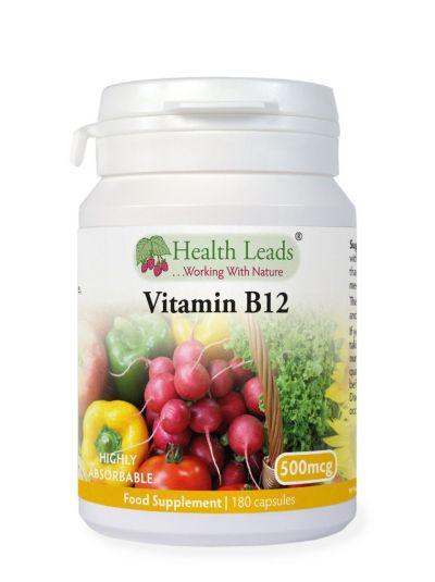 Health Leads Vitamin B12 500mcg x 180 capsules