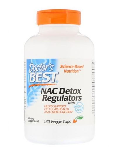 DOCTOR'S BEST NAC DETOX-REGULATOREN 180 VEGGIE CAPS