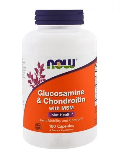 Now Foods Glucosamine and Chondroitin with MSM 180 Capsules