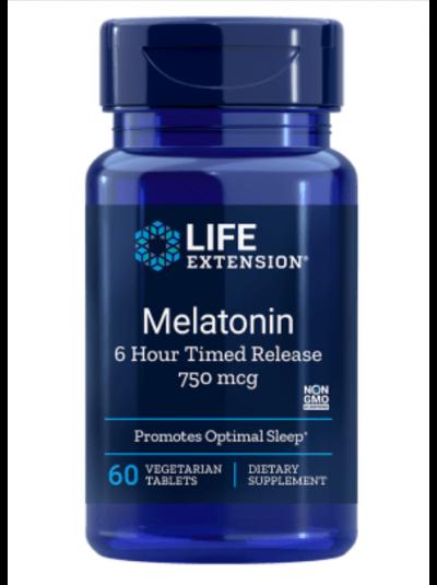 Life Extension Melatonin 750 mcg 6 Hour Timed Release
