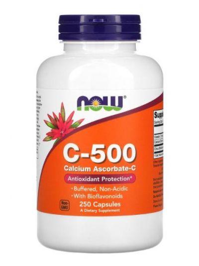Now Foods C-500 Calcium Ascorbate-C, 250 Capsules