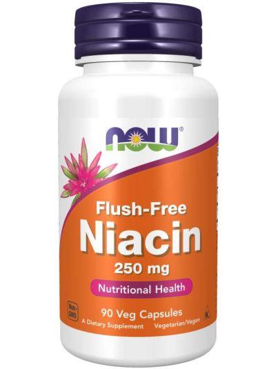 Now Foods Flush-Free Niacin 250 mg, 90Veg Capsules