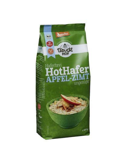 Bauckhof Demeter Hot Hafer Apfel-Zimt Haferbrei, glutenfrei 400g