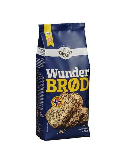 BAUCKHOF ORGANIC BREAD BAKING MIX WONDER BREAD YEAST AND GLUTEN FREE 600G