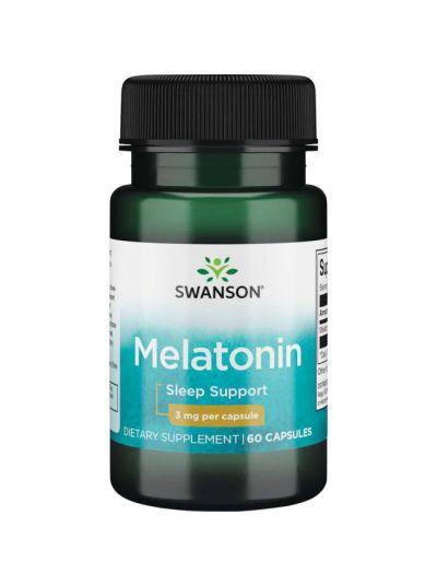SWANSON MELATONIN 3 MG 60 CAPSULES