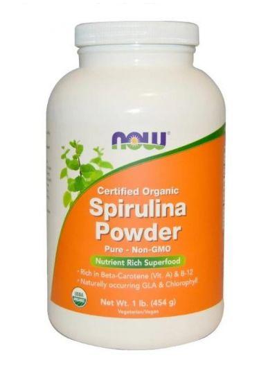 Now Foods Zertifiziertes Bio-Spirulinapuder 454 g