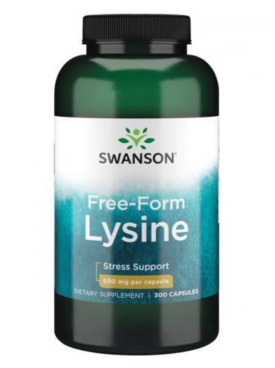 Swanson Premium - Free-Form L-Lysine - 500 mg - 300 Capsules