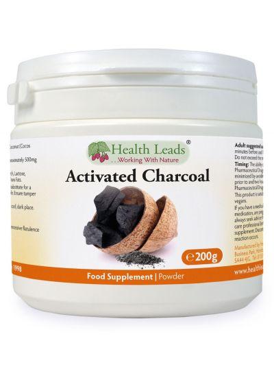 Health Leads Aktivkohle Pulver aus Kokosschalen 200 g