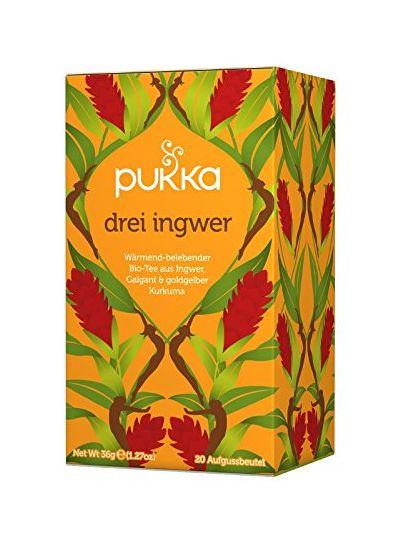 PUKKA Bio Drei Ingwer Tee, 1er Pack (20 x 1,8 g Teebeutel) - BIO
