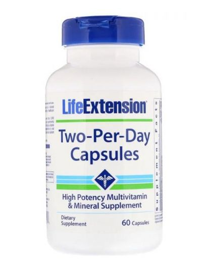 LIFE EXTENSION TWO-PER-DAY 60 KAPSELN