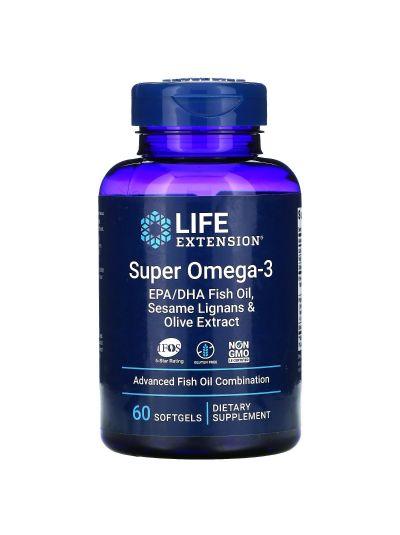 LIFE EXTENSION SUPER OMEGA-3 M. SESAMLIGNANEN UND OLIVENEXTRAKT 60 SOFTGELS