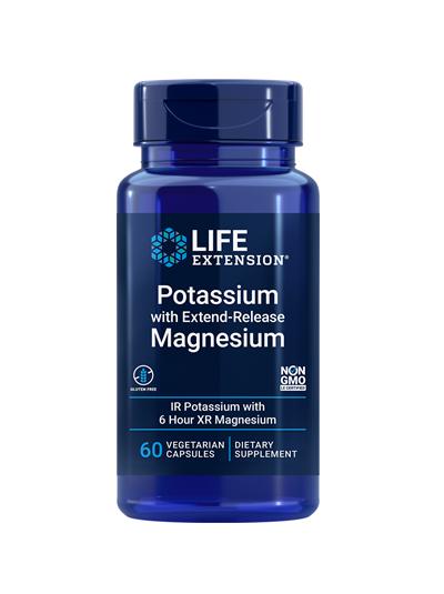 Life Extension Potassium with Extend-Release Magnesium 60 VegCap