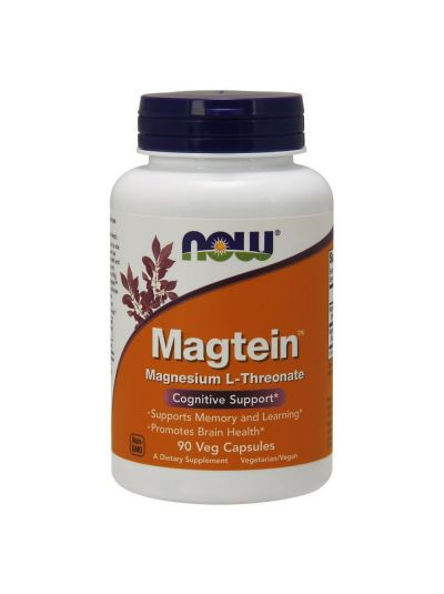 Now Foods Magtein (Magnesium L-Threonate) 90 Veg Capsules