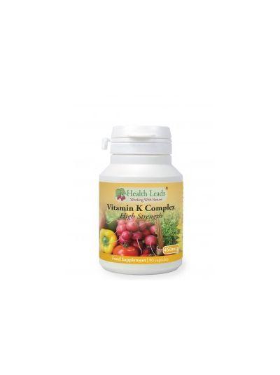 Health Leads Vitamin K Komplex (Hohe Stärke) 450mg x 90 Kapseln
