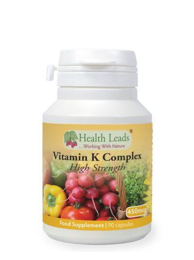 HEALTH LEADS VITAMIN K COMPLEX (HIGH STRENGTH) 450MG X 90 CAPSULES
