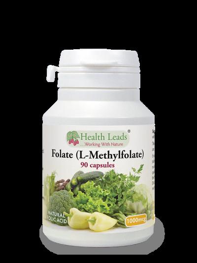 Health Leads Folate 1000mcg x 90 capsules