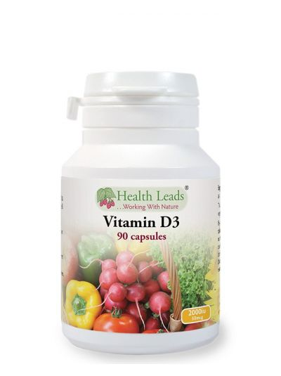 Health Leads VITAMIN D3 2000 IU 90 capsules