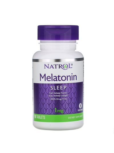 Natrol, Melatonin, 1 mg, 90 Tablets