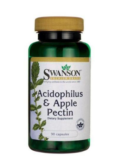Swanson Acidophilus und Apple Pectin 90 Kapseln