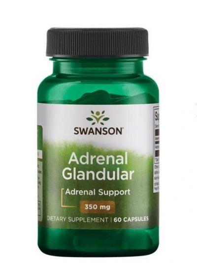 Swanson Adrenal Glandular Nebennieren (aus Rinder) 350 mg 60 Kapseln