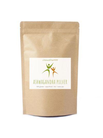 Vitalundfitmit100 Bio Ashwagandha Pulver 100 g