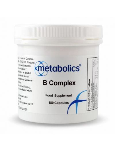 Metabolics Vitamin B complex (highly Bioavaible) 180 capsules