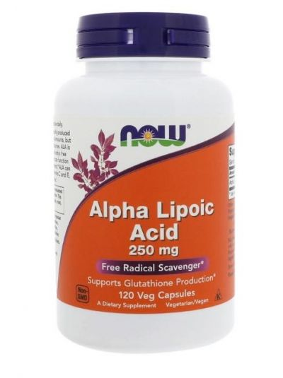 Now Foods Alpha Lipoic Acid 250 mg 120 Veg-CAPSULES