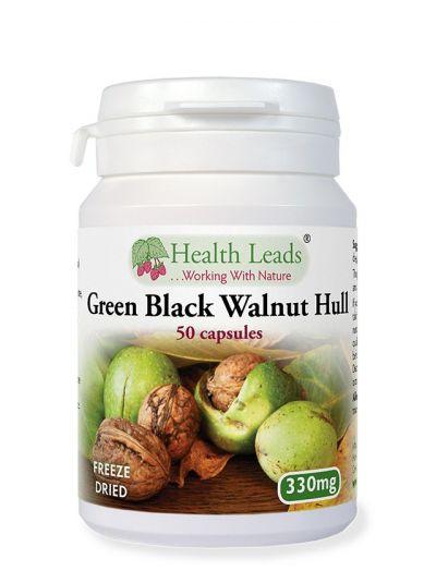 Health Leads GREEN BLACK WALNUT HULL (FREEZE DRIED) 330MG X 50 CAPS