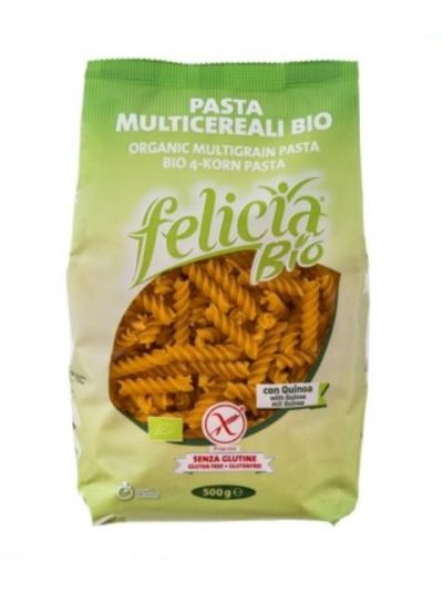 Felicia Bio 4-Korn-Pasta Fusilli glutenfrei, 500 g