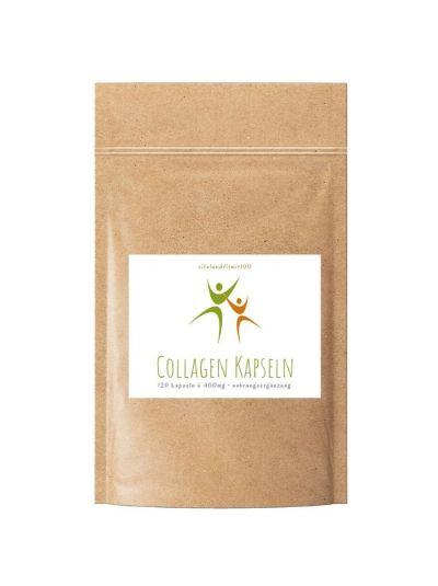Vitalundfitmit100 Kollagen (Collagen) Kapseln 120 Stück à 400 mg
