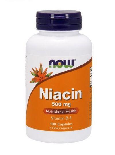 Now Foods Niacin 500 mg 100 Kapseln