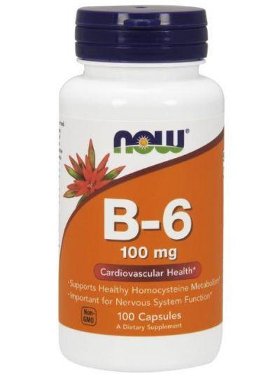 Now Foods Vitamin-B6 100 mg 100 Kapseln