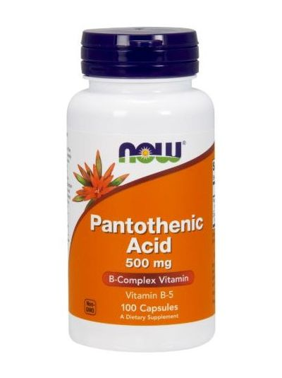 Now Foods Pantothenic Acid 500 mg 100 Capsules
