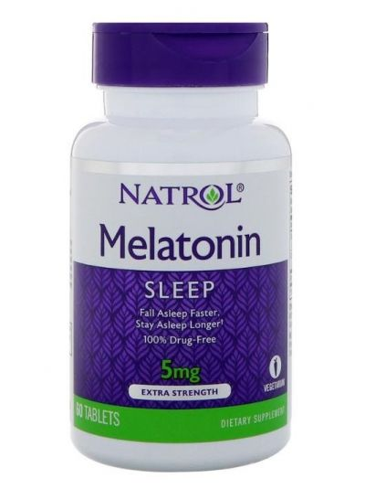Natrol Melatonin Sleep, extra stark, 5 mg 60 Tabletten
