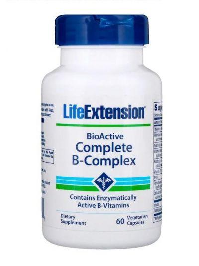 Life Extension BioActive kompletter B-Komplex 60 vegetarische Kapseln