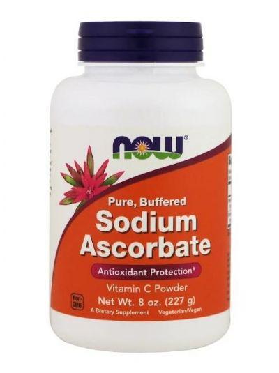 Now Foods, Natriumascorbat, Pulver 227 g