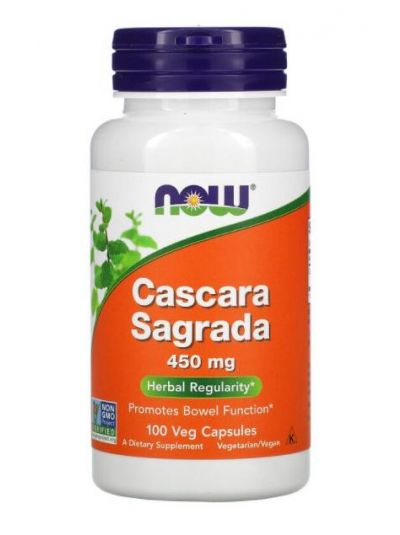 Now Foods, Cascara Sagrada, 450 mg, 100 Vege capsules