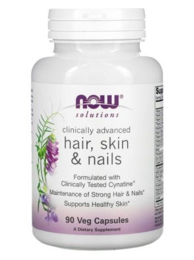 Now Foods, Clinically Advanced, HAIR, SKIN, NAILS, 90 VEGETABLE CAPSULES