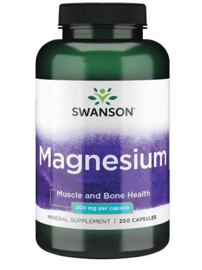Swanson Magnesium 200 mg 250 capsules