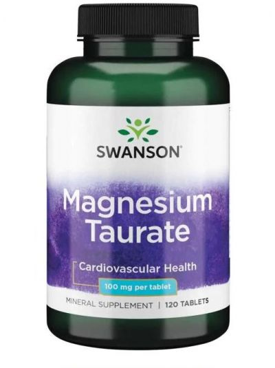 Swanson Magnesium Taurate 100 mg 120 Tablets
